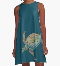 Sea turtle A-Line Dress