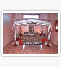 Kenyan African traditional double bed Sticker
