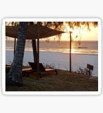 Kenyan African beach sunrise 1 Sticker