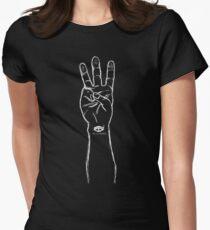 HiiiPOWER (Hand Version / White) Women's Fitted T-Shirt