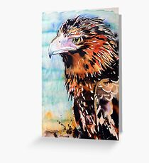 Eagle with Blue Greeting Card