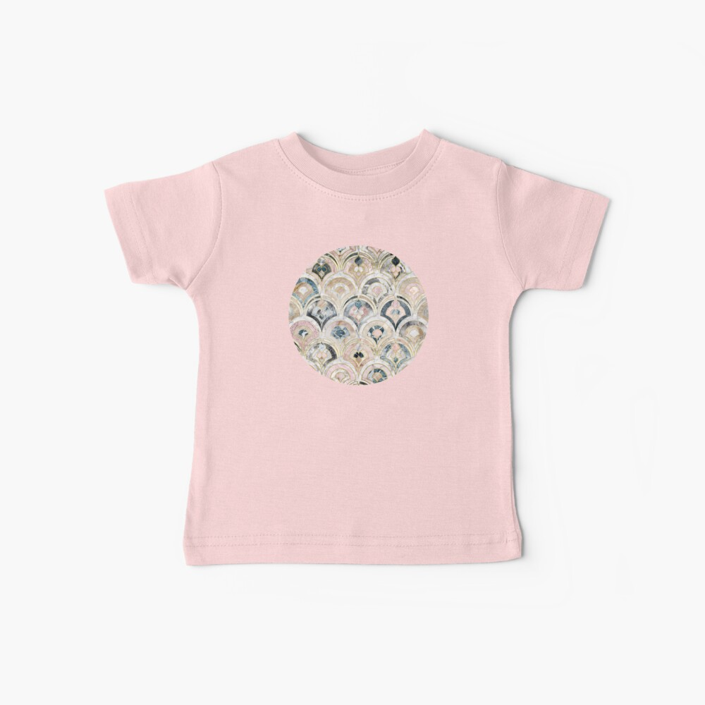 Art Deco Marble Tiles in Soft Pastels Baby T-Shirt