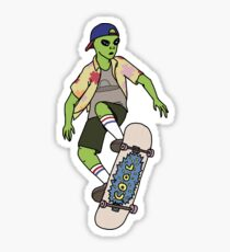 Alien Skater Sticker