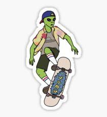 Alien Skater Sticker