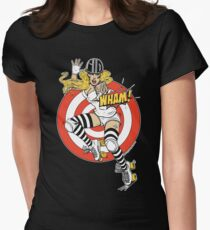 WHAM! Roller Derby, Comic, pinup Women's Fitted T-Shirt
