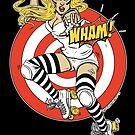 WHAM! Roller Derby, Comic, pinup by Isobel Von Finklestein
