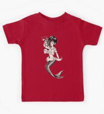 Sailors Ruin, Vintage mermaid tattoo style Kids Clothes