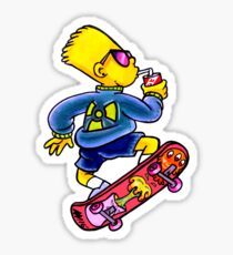 Cool Nuclear Bart Sticker