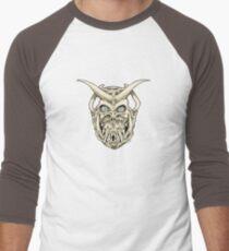 Horned Skull (color) Men's Baseball ¾ T-Shirt