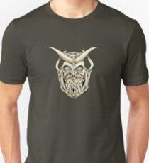 Horned Skull (color) Unisex T-Shirt