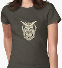 Horned Skull (color) Women's Fitted T-Shirt