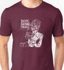 Beer Sucking Freaks (white) Unisex T-Shirt