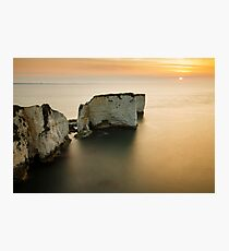 Sunrise Old Harry Rocks Photographic Print