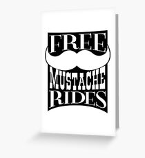 Mustache Rides Greeting Card