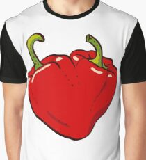 Heart Peppers sweet couple Graphic T-Shirt
