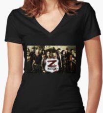 Z nation - cast Women's Fitted V-Neck T-Shirt