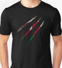 Wales Flagge Slim Fit T-Shirt