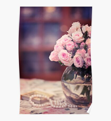 Still Life with Tea Roses Poster