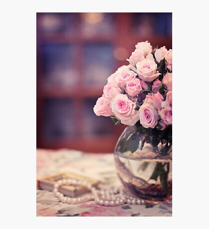 Still Life with Tea Roses Photographic Print