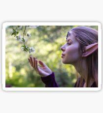 Elf with Flowers Sticker