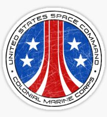 United States Colonial Marine Corps Insignia - Aliens - Dirty Sticker