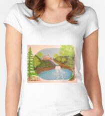 The Old Mill and Falls Women's Fitted Scoop T-Shirt