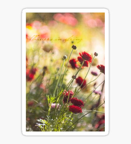 ~ flowers in spring ~ Sticker
