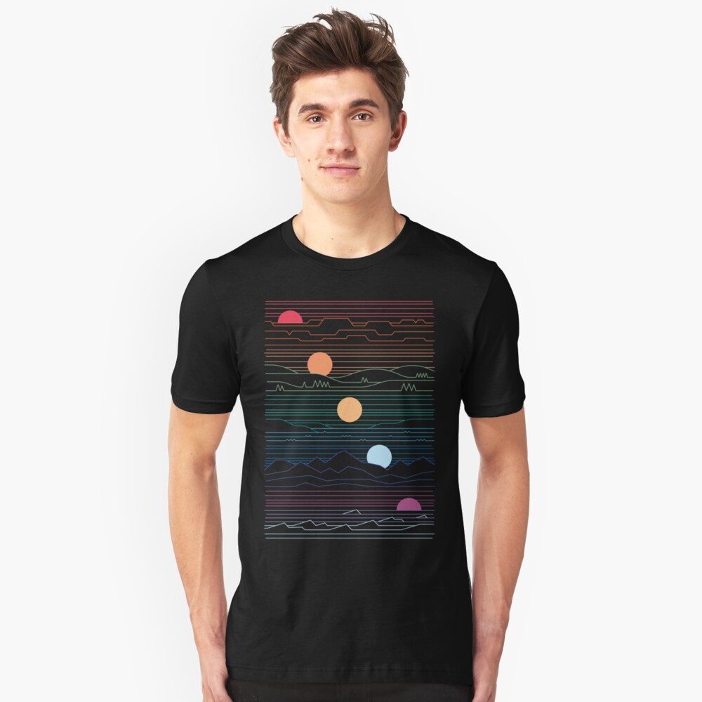 Many Lands Under One Sun Slim Fit T-Shirt