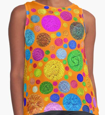 #DeepDream Color Circles Visual Areas 4x4K v1448872458 Sleeveless Top