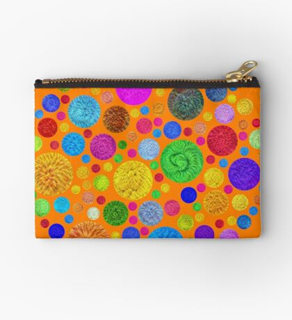 #DeepDream Color Circles Visual Areas 4x4K v1448872458 Zipper Pouch