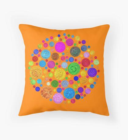 #DeepDream Color Circles Visual Areas 4x4K v1448872458 Throw Pillow