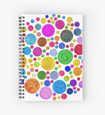 #DeepDream Color Circles Visual Areas 4x4K v1448872458 Spiral Notebook