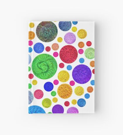 #DeepDream Color Circles Visual Areas 4x4K v1448872458 Hardcover Journal