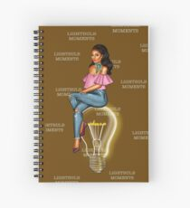 LightBulb Moments Chocolate Spiral Notebook