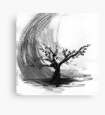 Sumi e sakura tree Canvas Print
