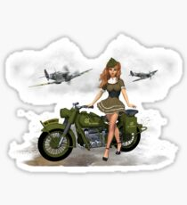Spitfire Pin Up Art Sticker