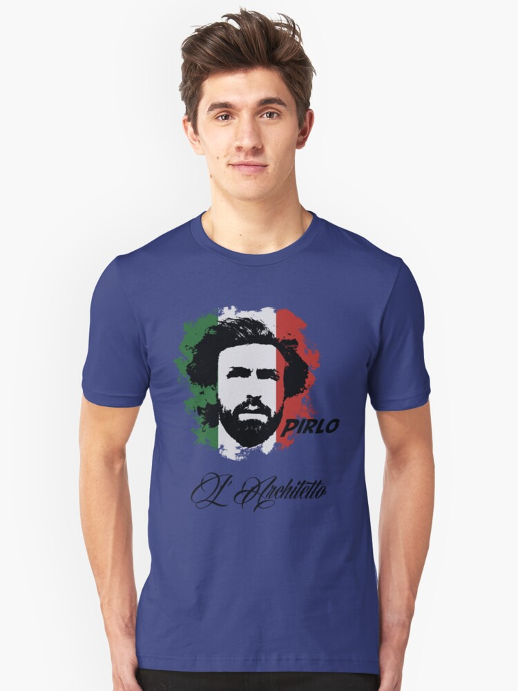 ITALIA ANDREA PIRLO WC 14 FOOTBALL T-SHIRT Unisex T-Shirt Front