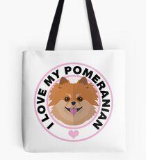 Bolsa de tela Love My Pomeranian Dog