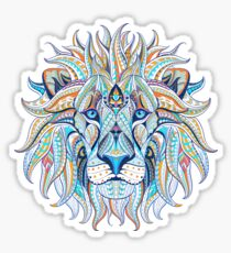 Ethnic Blue Lion Sticker