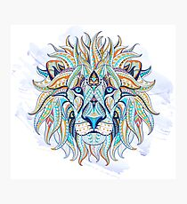 Ethnic Blue Lion Photographic Print