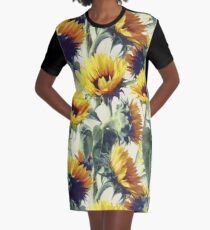 Sunflowers Forever Graphic T-Shirt Dress