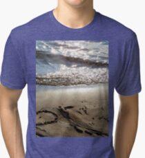Sand beach heart Tri-blend T-Shirt