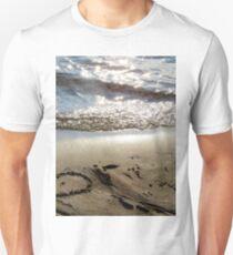 Sand beach heart Unisex T-Shirt