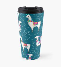 Watercolor llamas Travel Mug