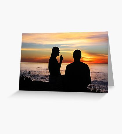 Conversation At Sunset Greeting Card