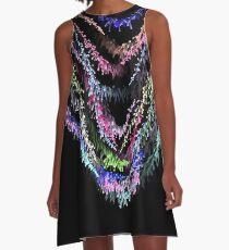 Neon sparkle A-Line Dress