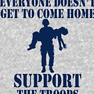 Everyone Doesn't Get To Come Home (Navy print) by pixhunter