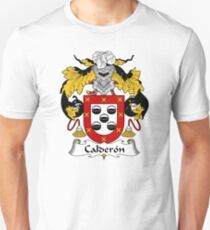 Calderon Coat of Arms/ Calderon Family Crest Unisex T-Shirt