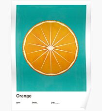 Orange (lucite green) - Natural History Fruits Poster