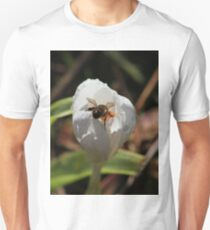 Honeybee on white crocus T-Shirt